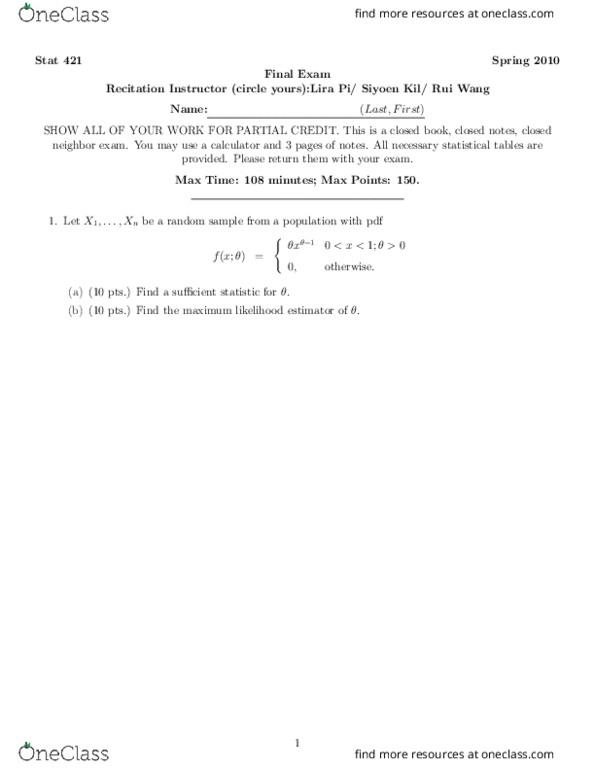 Statistics 421 Practice_Final_Exam-I