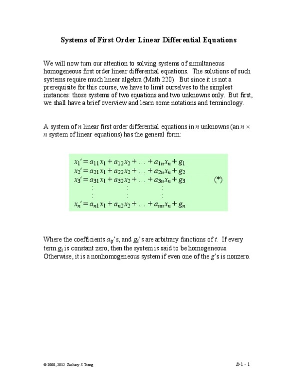 Class Notes for MATH 251 at Pennsylvania State University (PSU