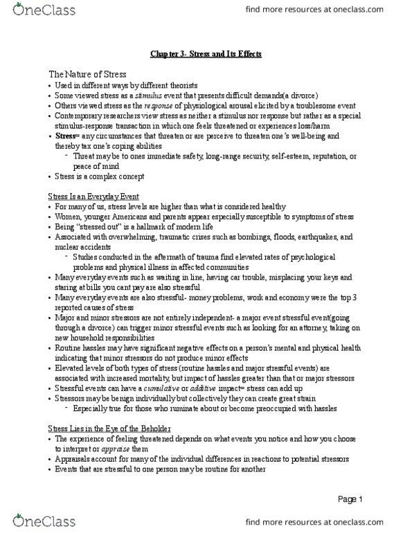 Psychology 2035A/B Chapter Notes - Chapter 3: Autonomic Nervous System,  Migraine, Autism Spectrum