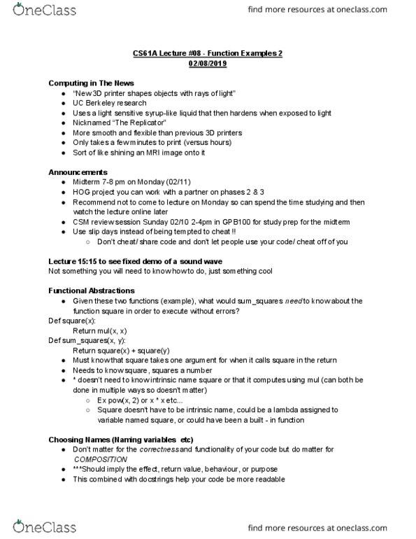 Cs61a Hw 8 Solutions