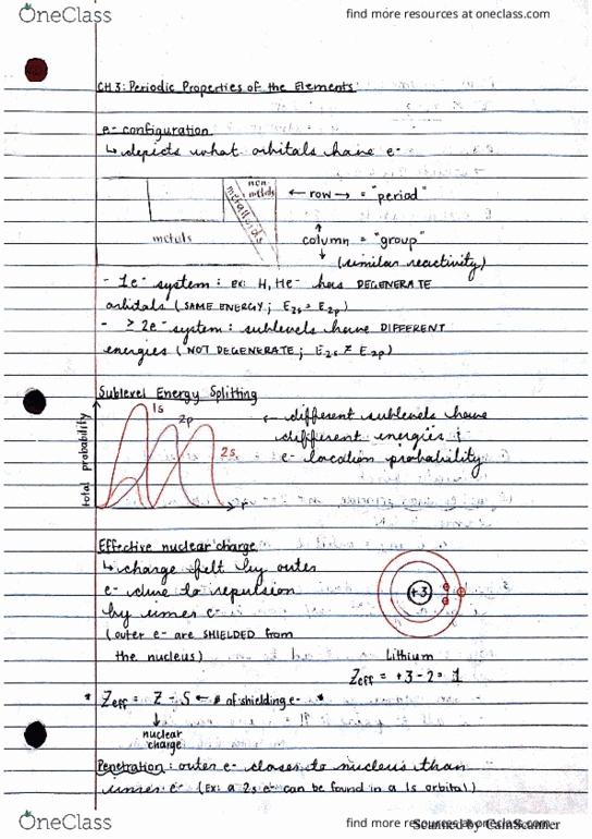 Class Notes for Chemistry at Vanderbilt University - OneClass