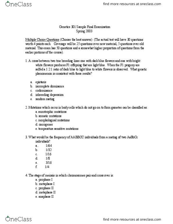 All Educational Materials for BIOLOGY 456 at Washington