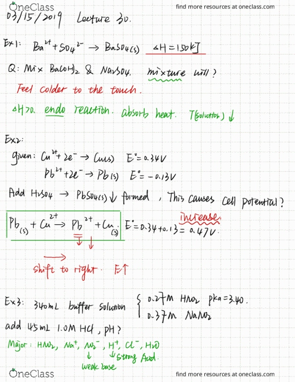 All Educational Materials for CHEM 1B at University of