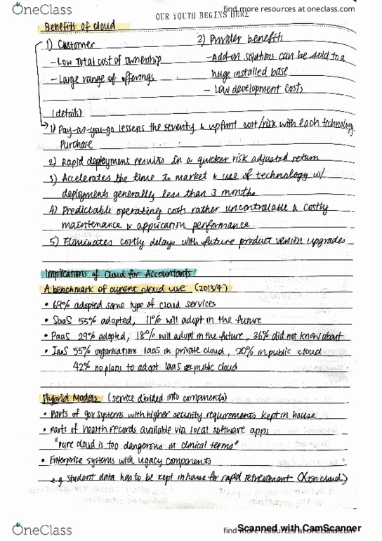 Usyd Course Notes