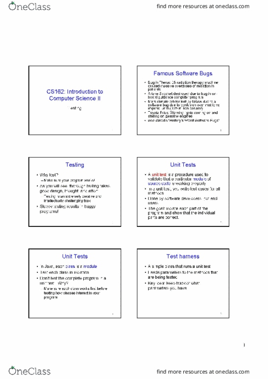 All Educational Materials for CS 162 at Oregon State