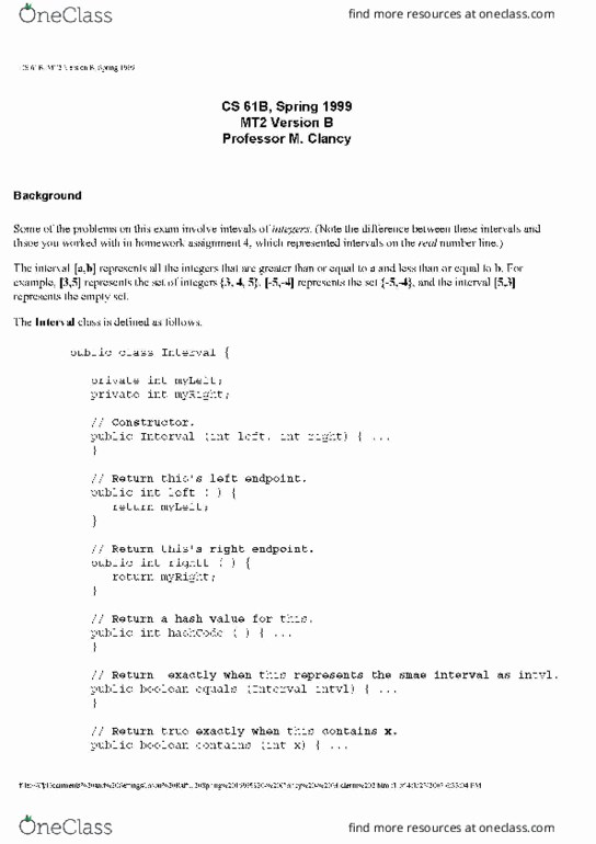 All Educational Materials for COMPSCI 61B at University of