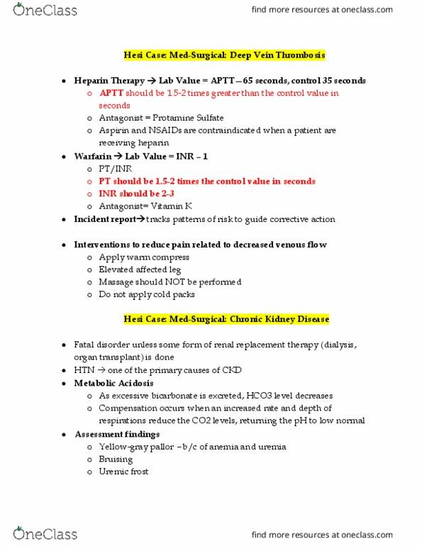 hesi rn case study dvt