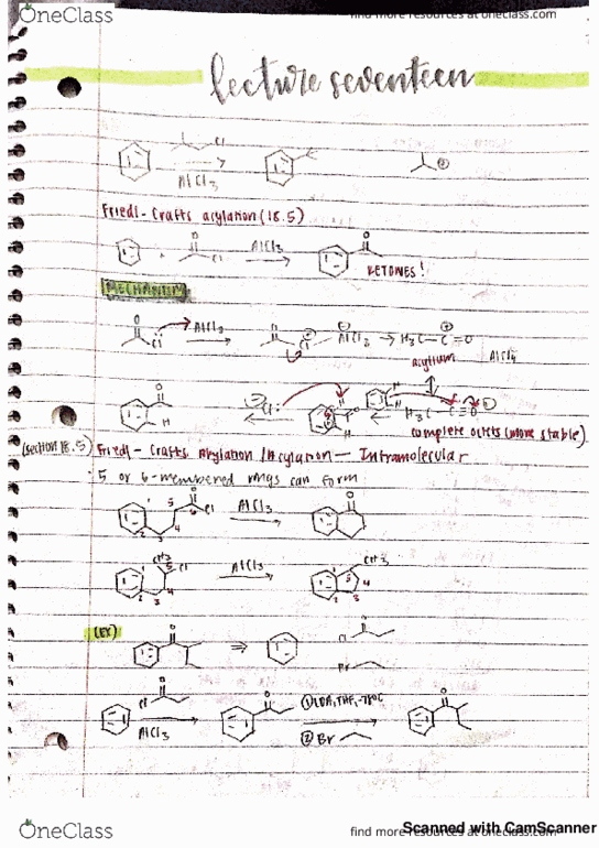 All Educational Materials for CHEM 51C at University of