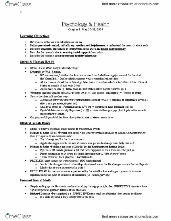 Psychology 2990A/B Textbook Notes - Summer 2019, Chapter 3 - Learned