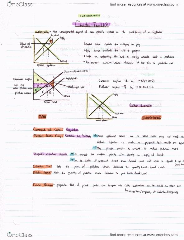 Class Notes for ECO 1304 at University of Ottawa (UOTTAWA