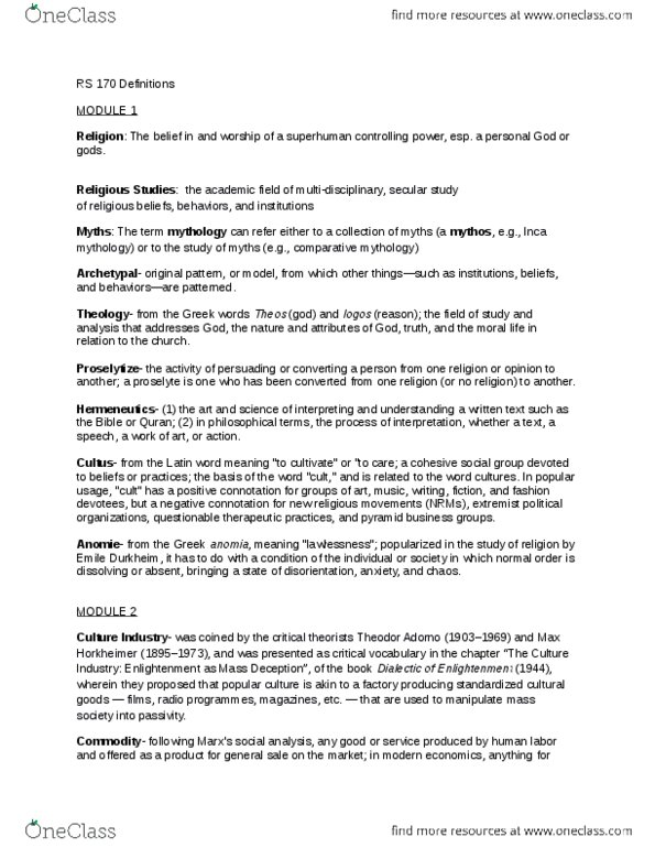 RS170 Lecture Notes - Lecture 1: Conspicuous Consumption
