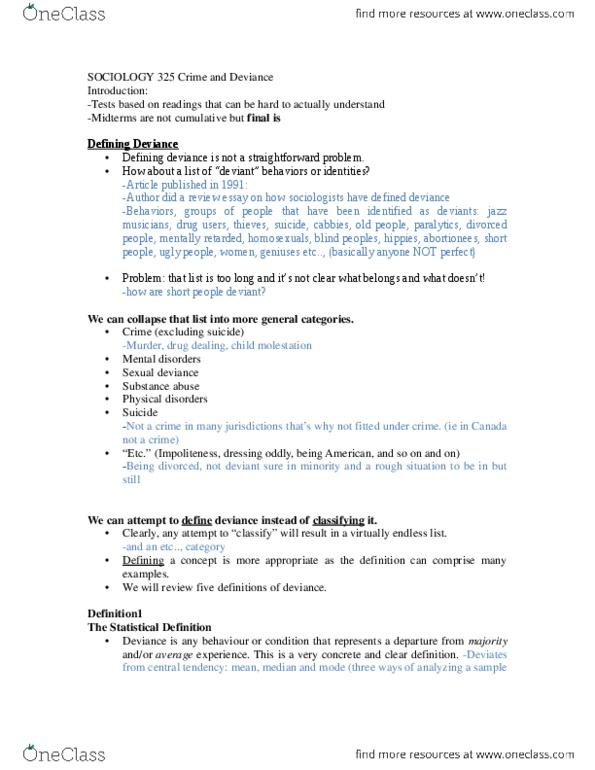 SOCI 325 Study Guide - Winter 2014, Midterm - Intellectual