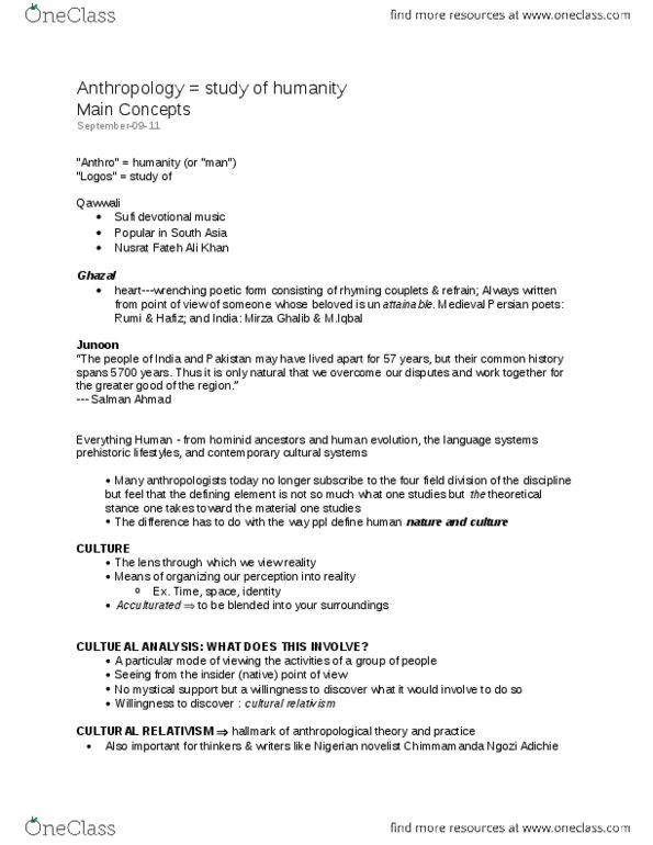 Class Notes for Kristin Bright - Page 2 - OneClass