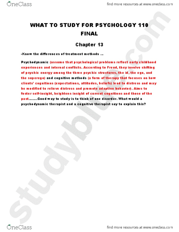 Final Exam Review Chapter 13 Study Guide Oneclass