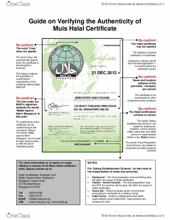 ECON299 Textbook Notes - Fall 2014, - Majlis Ugama Islam Singapura