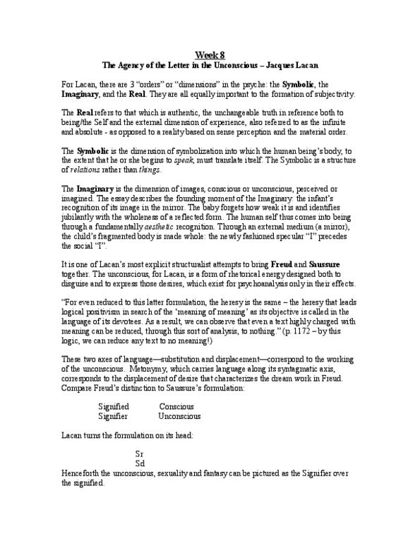 Textbook Notes for English at Western University (UWO) - OneClass