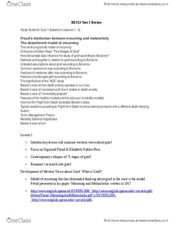 RE313 Study Guide - Quiz Guide: Clinical Death, Life Review, Sagan Standard