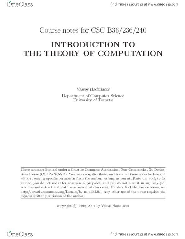 Textbook Notes for Vassos Hadzilacos - OneClass