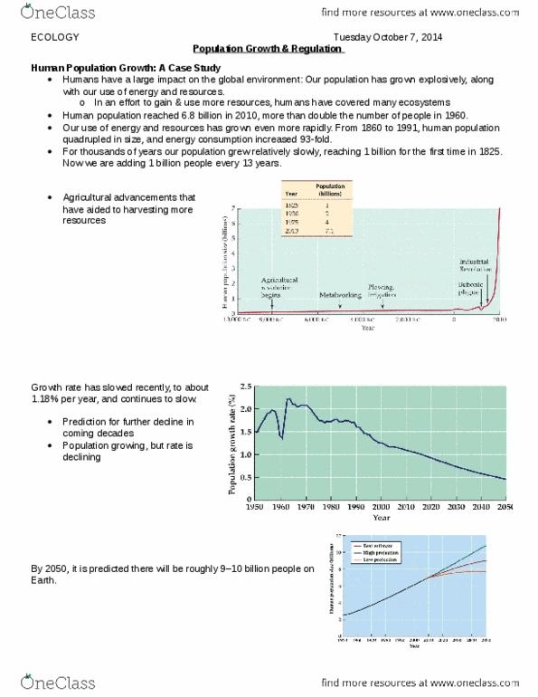 Biology 2483A Quiz: Population Growth docx