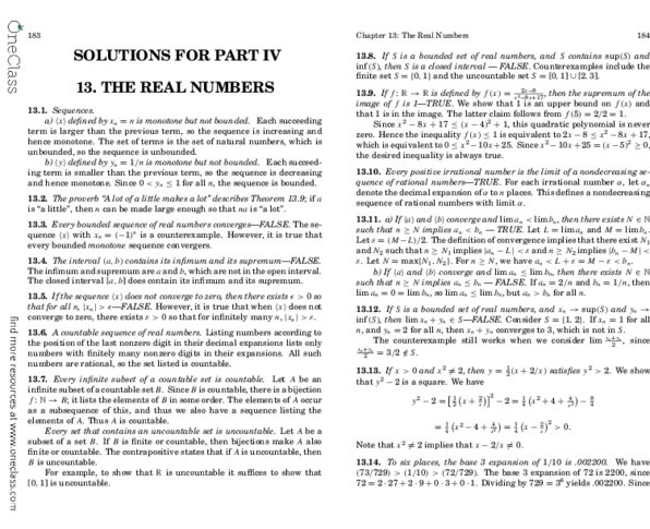 MAT102H5 Chapter 13 18 Mathematical Thinking Problem Solving And Proofs Solution Manual