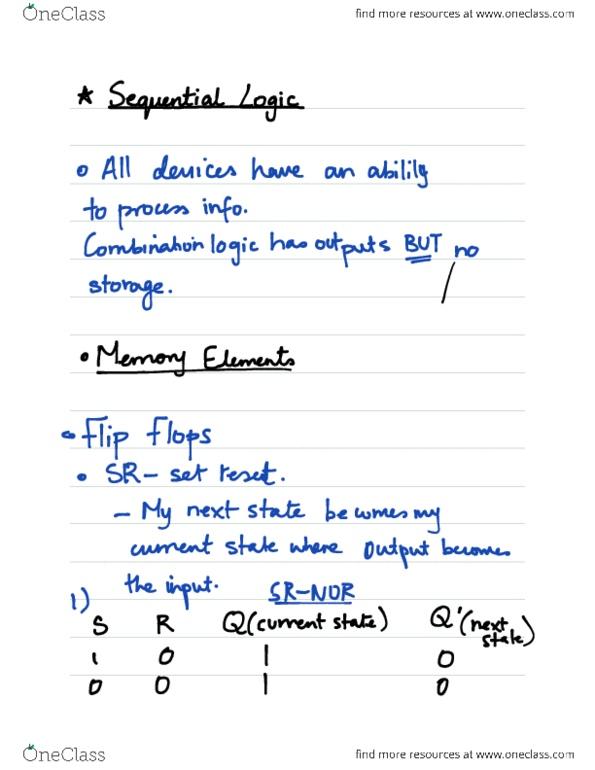 Flip flop lecture notes pdf