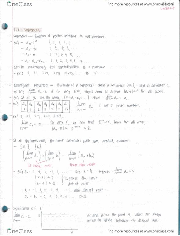 Class Notes for Reshetikhin Nicolai - OneClass