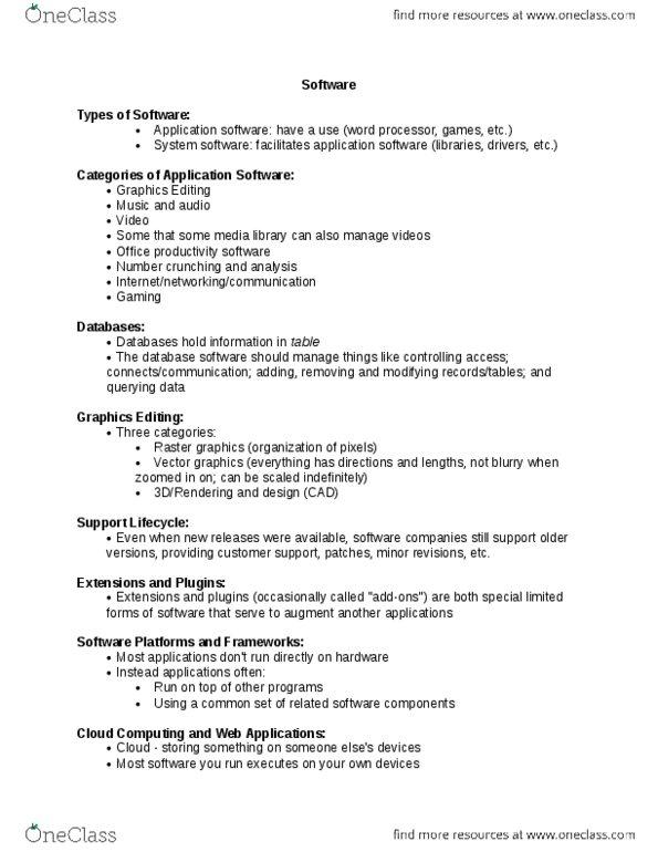 Class Notes for Computer Science at Brock University (BROCKU
