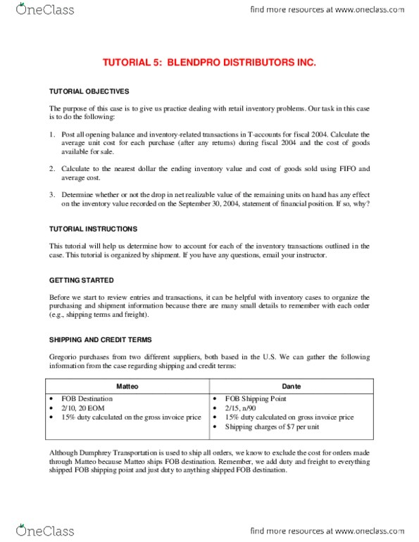 Sample Research Ysis | Business Administration 2257 Study Guide Summer 2014 Final Cash