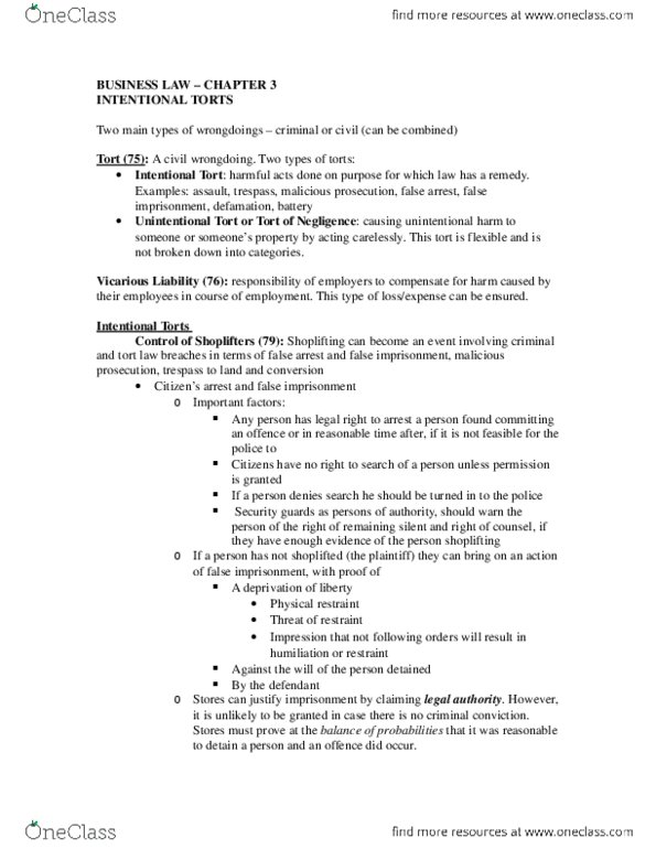 MGM390H5 Textbook Notes - Winter 2015, Chapter 3 - Picketing