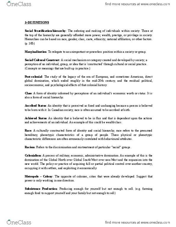 final exam study guide 2015 20th