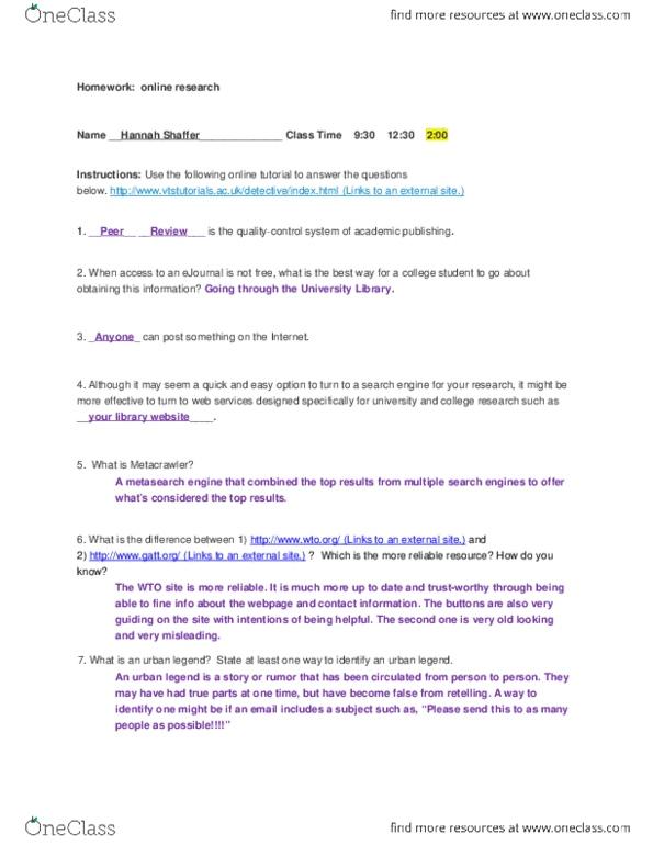 Study Guides for PSYC 160 at James Madison University (JMU