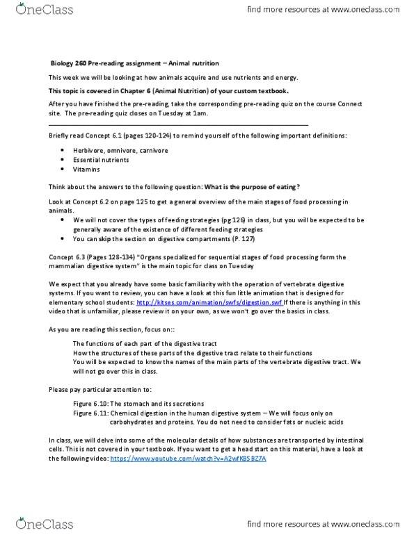 Animal nutrition.pdf - OneClass