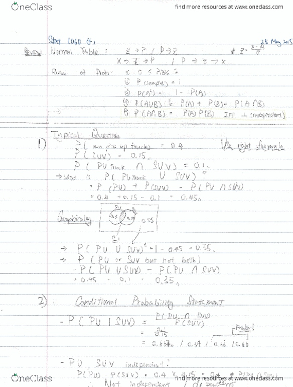 Class Notes for Statistics at Dalhousie University (DAL)