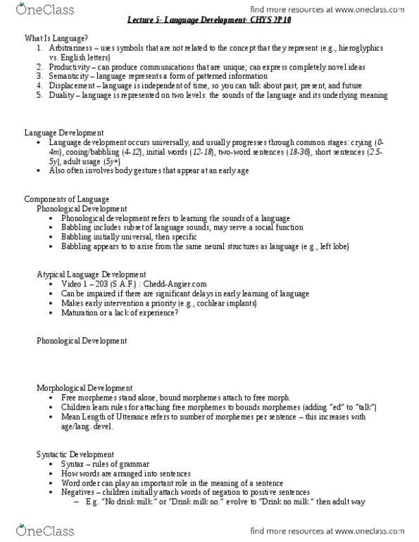 CHYS 2P10 Lecture Notes - Winter 2014, Lecture 5