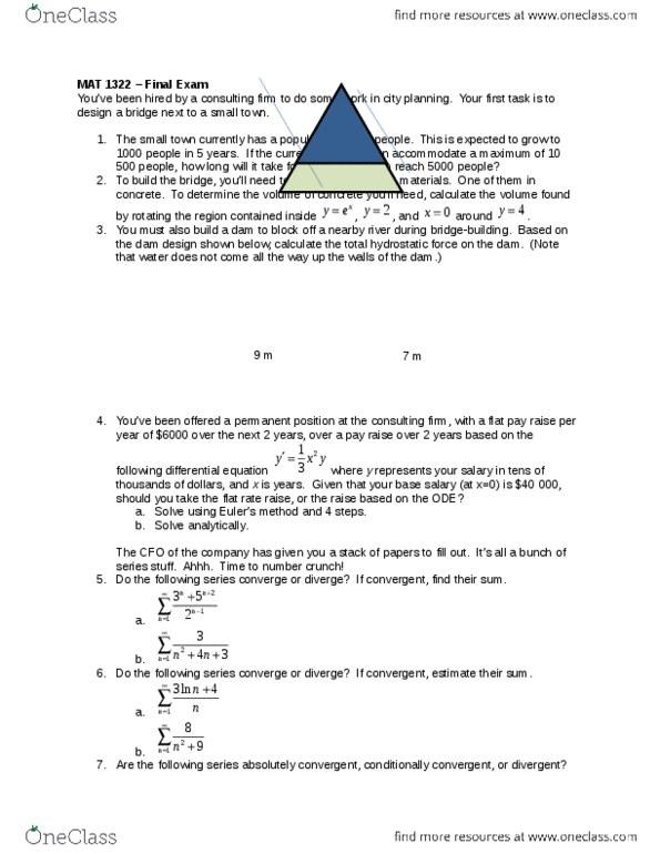 2ebd726998f MAT 1322 Study Guide - Winter 2014