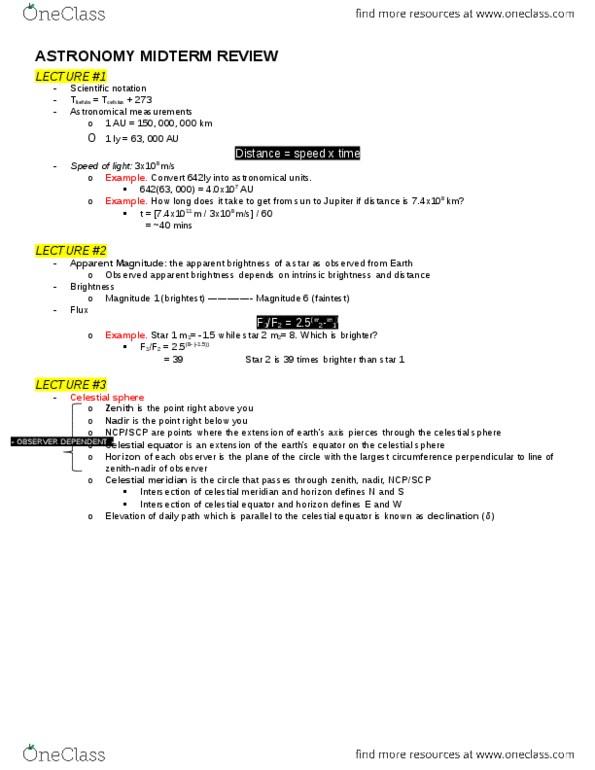 ASTA01H3 Study Guide - Fall 2015, Midterm - Memory Stick, Escape
