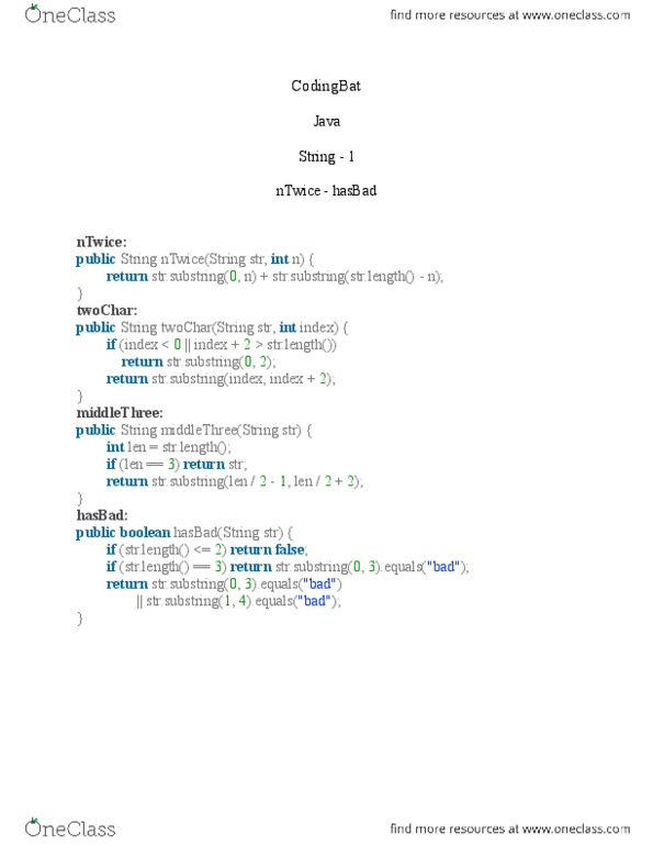 CPS 109 Lecture Notes - Lecture 4: Substring