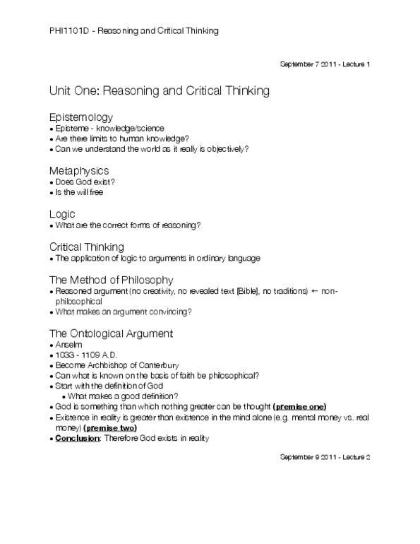 reasoning and critical thinking uottawa