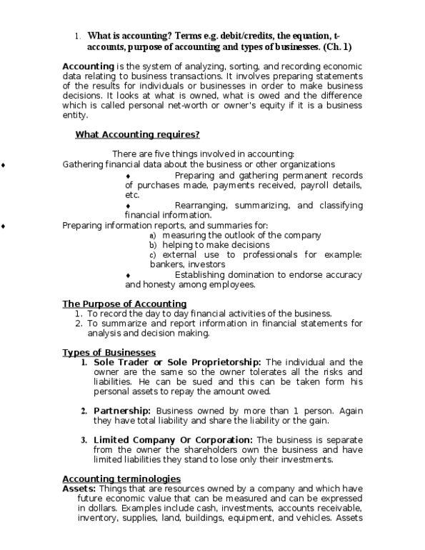 RSM219H1 Textbook Notes - Winter 2013, Chapter 1 - Matching