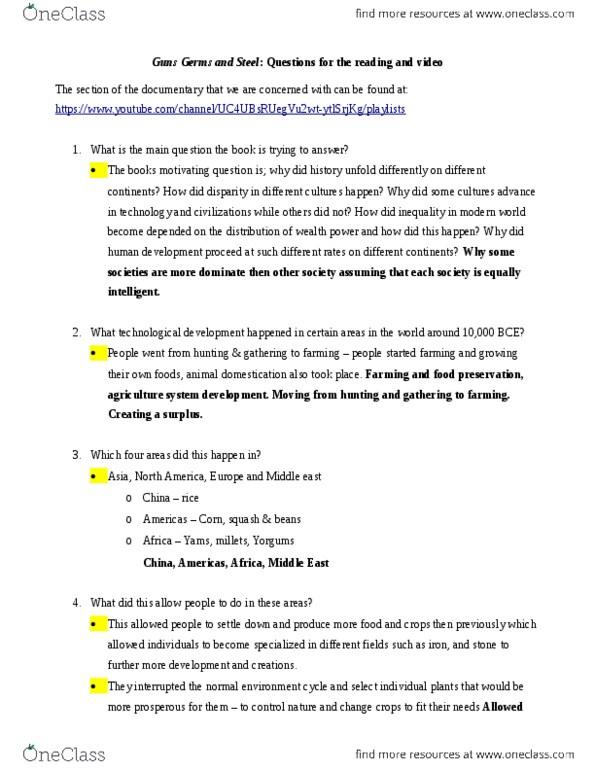 Class Notes for Gerry Mcgoldrick - OneClass