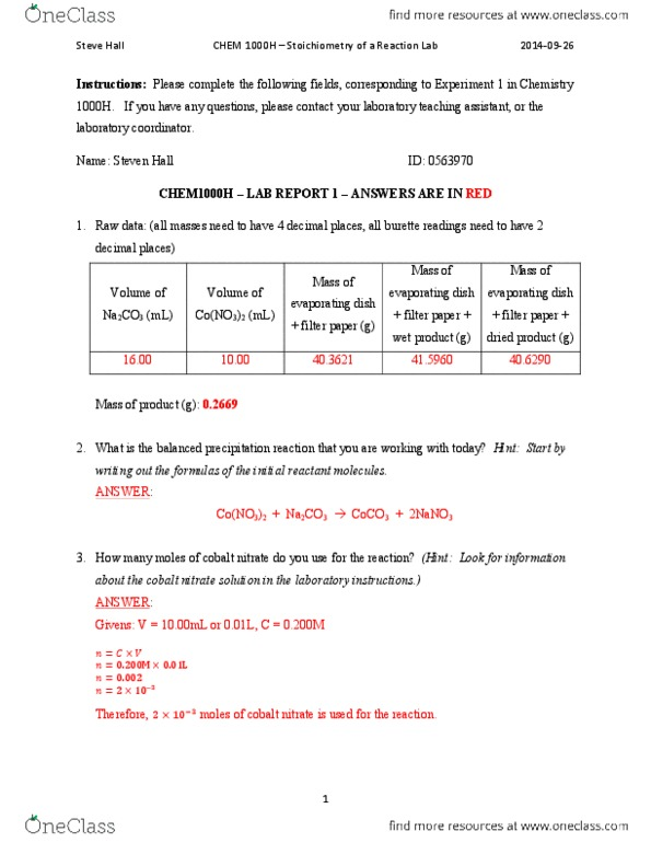 CHEM 1000H Study Guide - Midterm Guide: Lead
