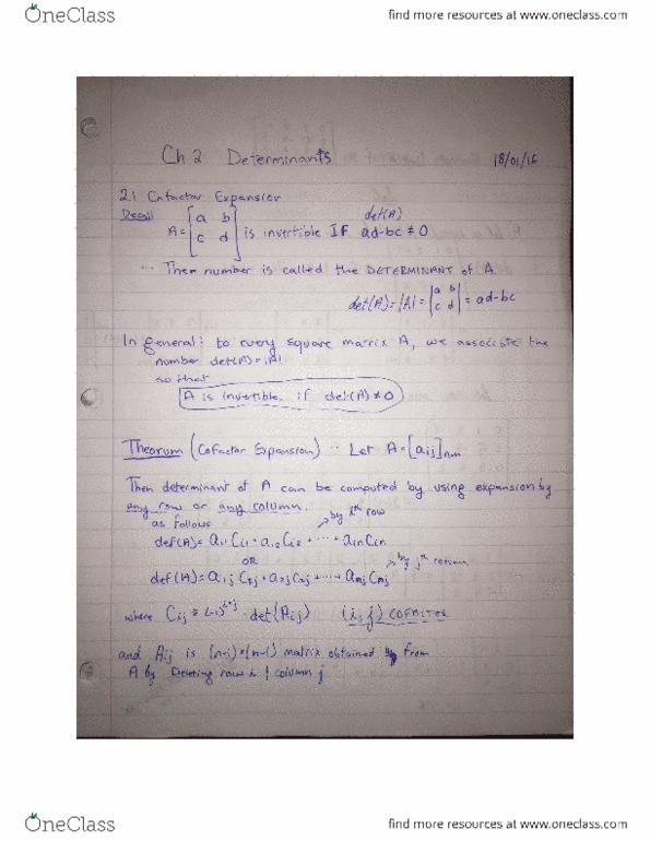 linear algebra study notes