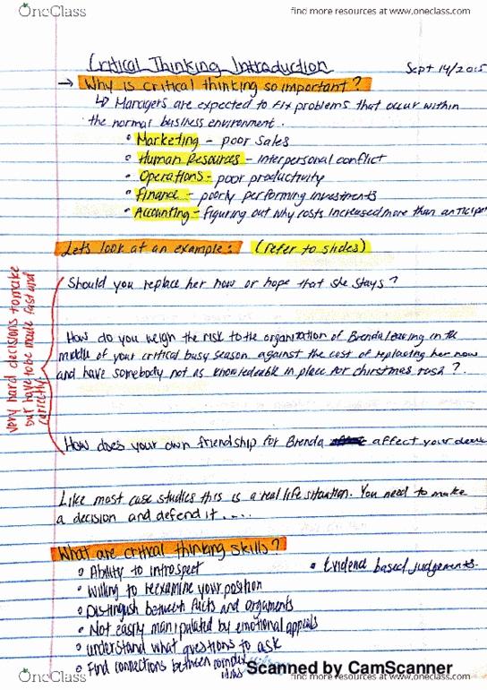 critical thinking uoit