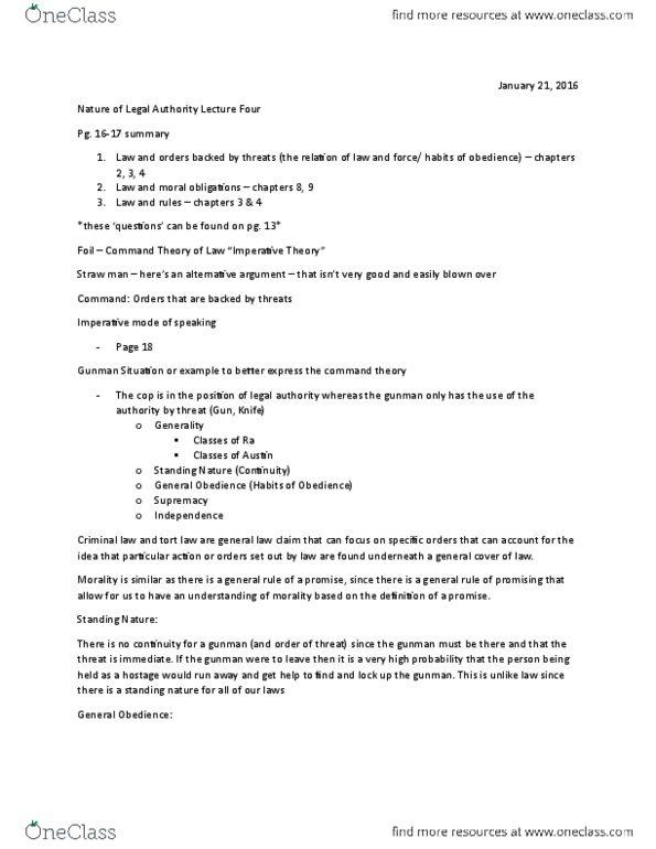 All Educational Materials for JURI-2426EL at Laurentian University