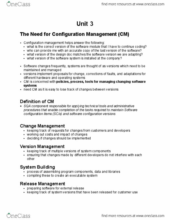 Software Engineering 4453a B Lecture Notes Winter 2016 Lecture 7 Component Based Software Engineering Release Management The Need