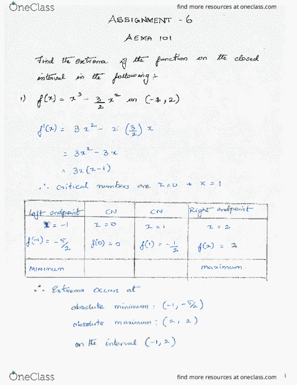 Class Notes for Mathematics (Agric&Envir Sci) at McGill
