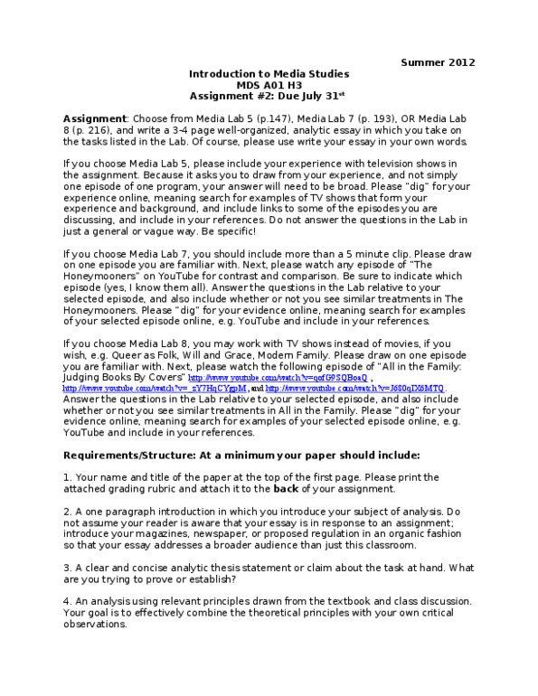 utsc thesis statement
