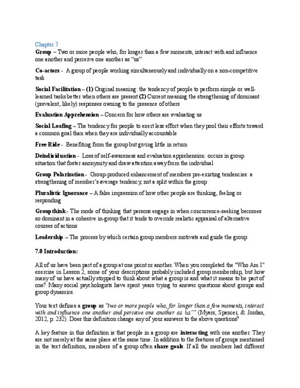 PS270 Study Guide - Winter 2016, Quiz - Robert Zajonc