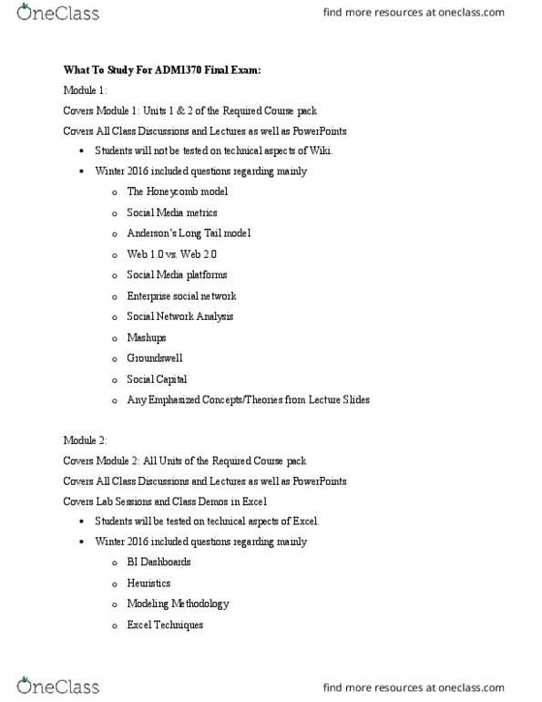 ADM 1370 Study Guide - Midterm Guide: Purchase Order, Business  Intelligence, Autosave