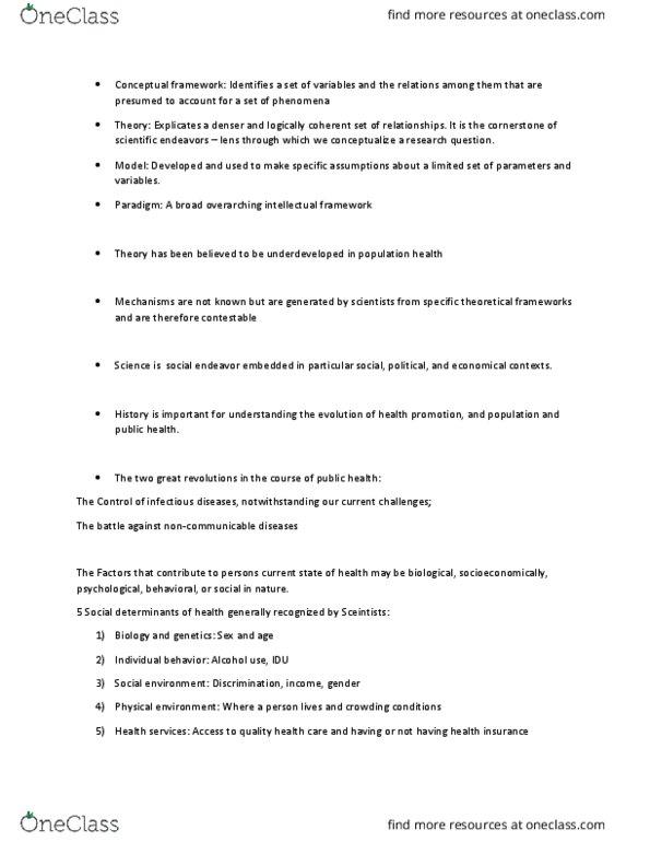 Class Notes for Maya Gislason - OneClass